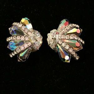 Spectacular Crystal Clip Earrings